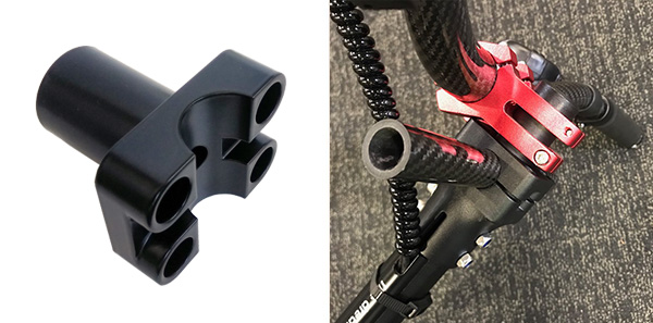 Adapter to transition to a Bicycle handlebar Dualtron, adapter Ver.2 Dualtron 2LTD, D2S, EX+, D3, Raptor, Ultra, Thunder, Spider, Compact, Raptor 2, EAGLE